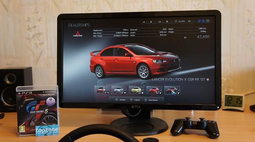 Gran Turismo 5 ir Logitech Drive Force GT