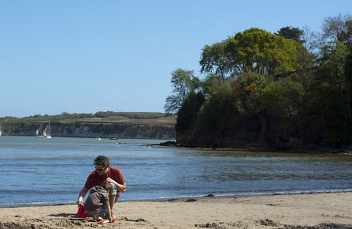 Ben and Dylan at Studland Beach - Copyright R.Weal 2009