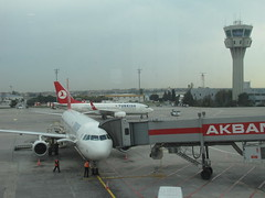 Turkish Airlines and Control Tower (Armenian_Spotter) Tags: tower plane airplane airport control aircraft aviation air jet istanbul airways avia flugfahen