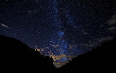 Another from 2010's Perseids Meteor Shower (Fort Photo) Tags: longexposure sky mountains nature silhouette composite night skyscape stars landscape rockies shower star nikon colorado nightscape galaxy astrophotography co astronomy universe meteor teller milkyway 1610 perseid perseids perseidmeteorshower clff d700 Astrometrydotnet:status=failed Astrometrydotnet:id=alpha20101233791640