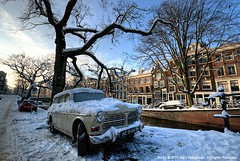 Winter in Amsterdam #2 (Marc Haegeman Photography) Tags: winter snow amsterdam nederland thenetherlands grachten hdr winterbeauty reguliersgracht