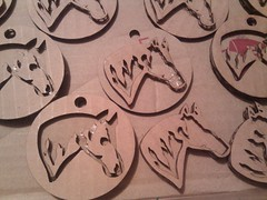 Assembled horses (connors934) Tags: horse project cardboard ornament laser stacking cutter favorited lasercutter epilog pemtech lasercutchristmas laserctter