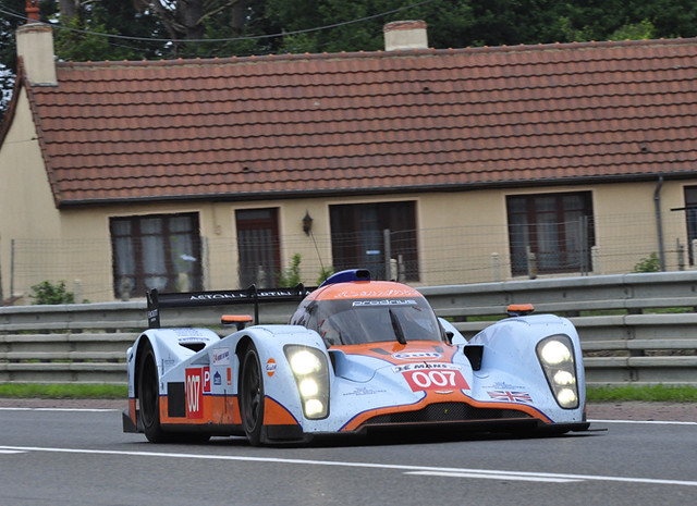 In 2011, the Aston Martin LM P1 gas-powered prototype could have a chance, albeit small, to take the overall win against the Audi and Peugeot diesels. PHOTO © ANNE PROFFIT 2010