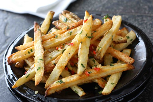 Baked French Fries with Chile Peppers & Cilantro LS