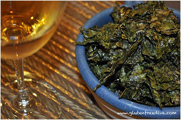 Post image for Adopt A Gluten Free Blogger September 2010 Edition: Salt & Vinegar Roasted Kale Chips
