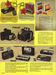 Kodak Pocket Instamatic Heaven! Also Polaroid cameras and film, Super 8 movie film, Minolta, GAF, Keystone, Sylvania Blue Dot Magicubes.  A camera page from the  H.B. Davis catalog. Milford Connecticut. Aug 1974 (wavz13) Tags: vintage 1970s instamatic vintageadvertising oldfilm oldads vintageads vintagecameras vintagedesign vintagefilm vintagecatalog 1970sdesign oldcatalog vintagegraphics 1970scamera 1970sads 1970sadvertising 1970sfilm 1970sgraphics 1970scatalog 1970scameras