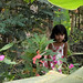 Thai girl between the leaves