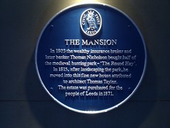 Photo of Thomas Nicholson and Thomas Taylor blue plaque