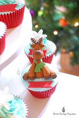 My little Reindeer 3 (Little Cottage Cupcakes) Tags: christmas snowflakes cupcakes reindeers fondant cupcaketower sugarpaste littlecottagecupcakes
