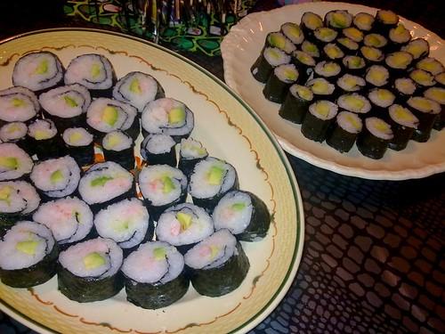 V and I made sushi