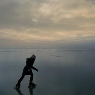 Samantha skating on the infinite sea of ice