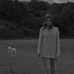 mans best friend (Timoleon Vieta II) Tags: portrait bw dog girl selftaught mansbestfriend thelittledoglaughed timoleon