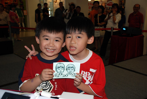 digital caricature live sketching @ Liang Court - day 3 - 6b