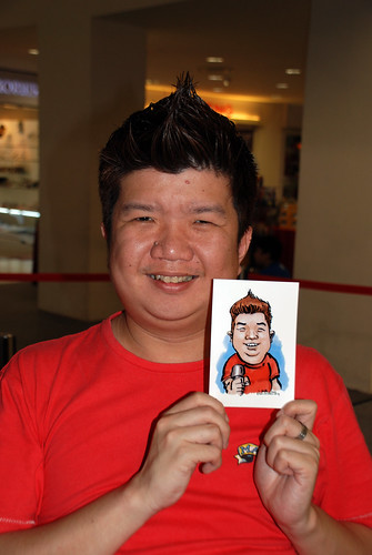 digital caricature live sketching @ Liang Court - day 3 - 8b