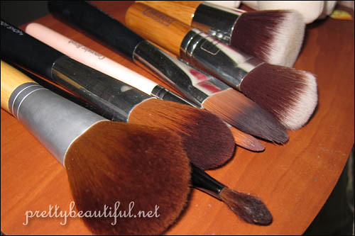 cleaned brushes