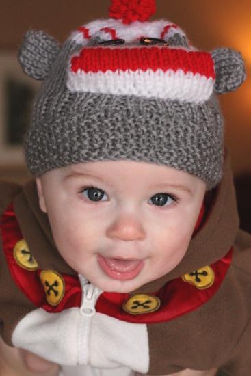 Sock Monkey Hat - 1