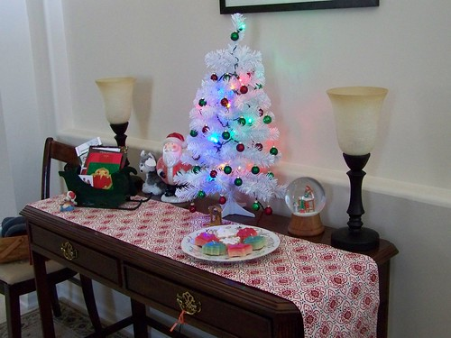 New entry table all decked out for Christmas