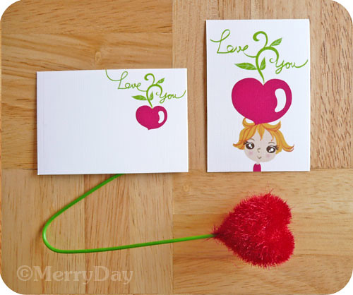 Growing My Love For You gift mini tag