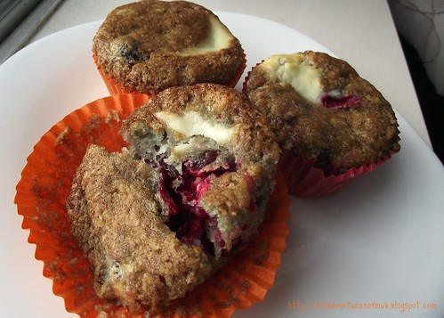 Cranberry & Cream Cheese Muffins