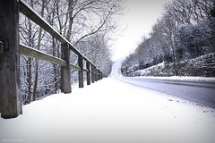 (andrewlee1967) Tags: road uk trees england snow fence britain gb diggle andrewlee sigma18200mm andrewlee1967 canon50d