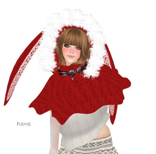 *RibboN*Bunny-Poncho(RED)