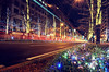 the co-starring of light (y2-hiro) Tags: street city light night nikon exposure osaka 2470mm d3s