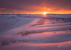 Winter Morning, Palouse (Chip Phillips) Tags: winter snow sunrise butte northwest farming hills sunburst agriculture inland rolling palouse steptoe sunsar