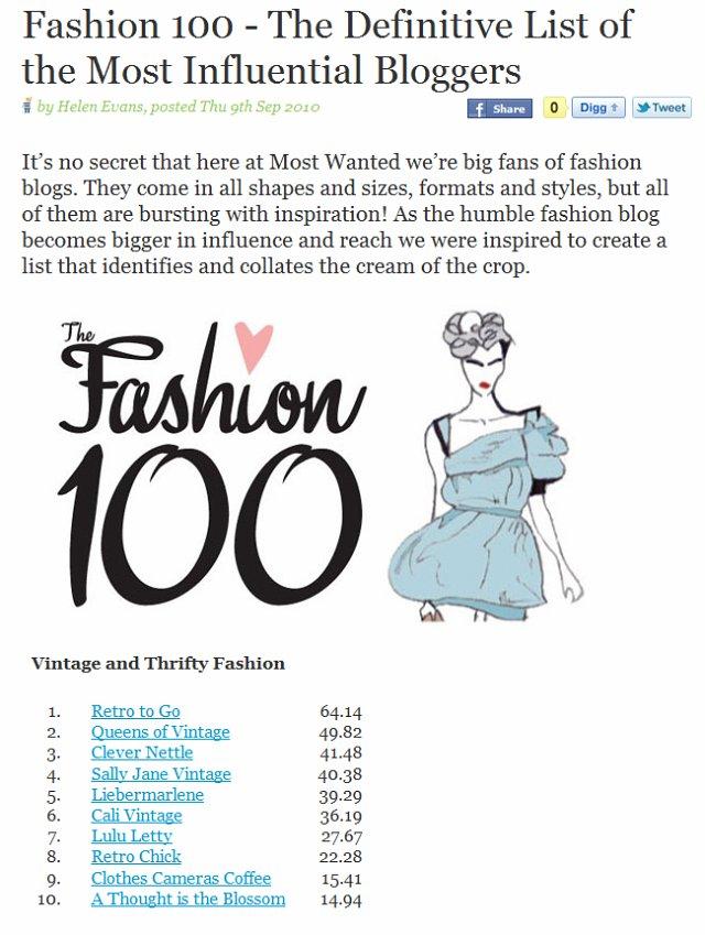 Fashion 100 2010
