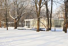 Fransworth House (9) (jonathan rieke) Tags: winter chicago architecture illinois modernism miesvanderrohe plano farnsworthhouse