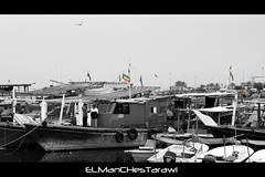 Kuwait Flags On Boats (ELManCHesTarawi) Tags: blackandwhite white black canon boats boat kuwait kuwaitcity   kuwaitflag  550d  kuwaitboat kuwaitsea kuwaitflags canon550d kuwaitboats