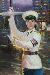 North Korean Art - traffic policewoman (PyongyangTrafficGirls) Tags: art traffic northkorea pyongyang dprk