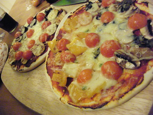Home made vegetable pizzas