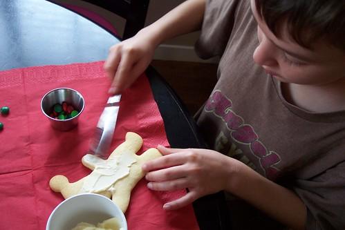 My little man makes a little man (cookie)