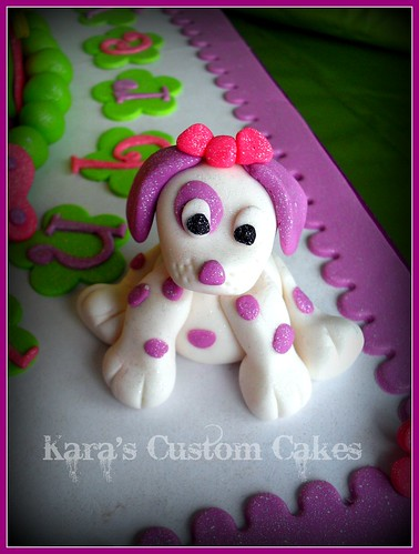 Puppy Dogs & Butterflies Birthday Cake- Icing Smiles