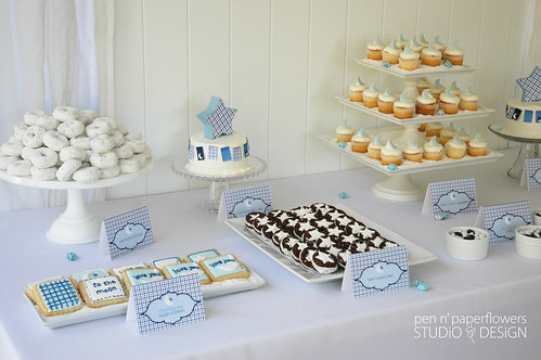 mini cupcakes from cupcake delights displayed on cake plates filled