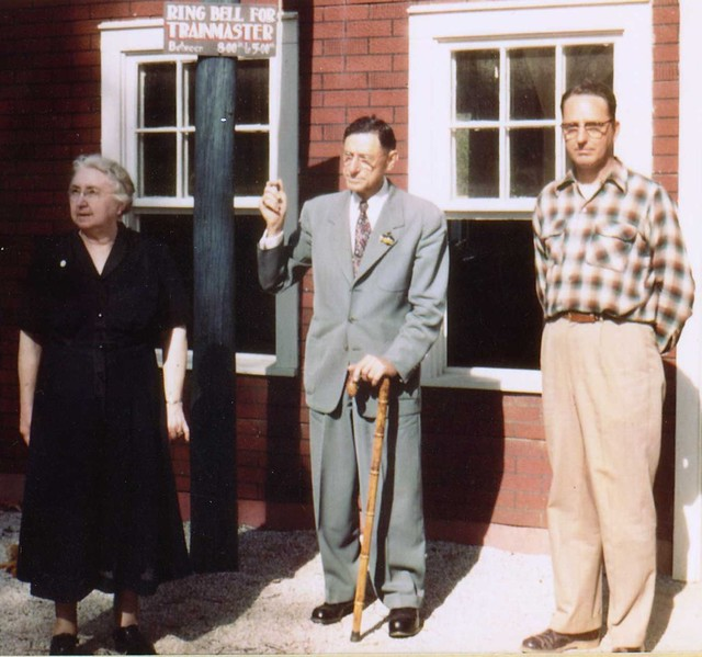 Bill Koch and his parents in 1956