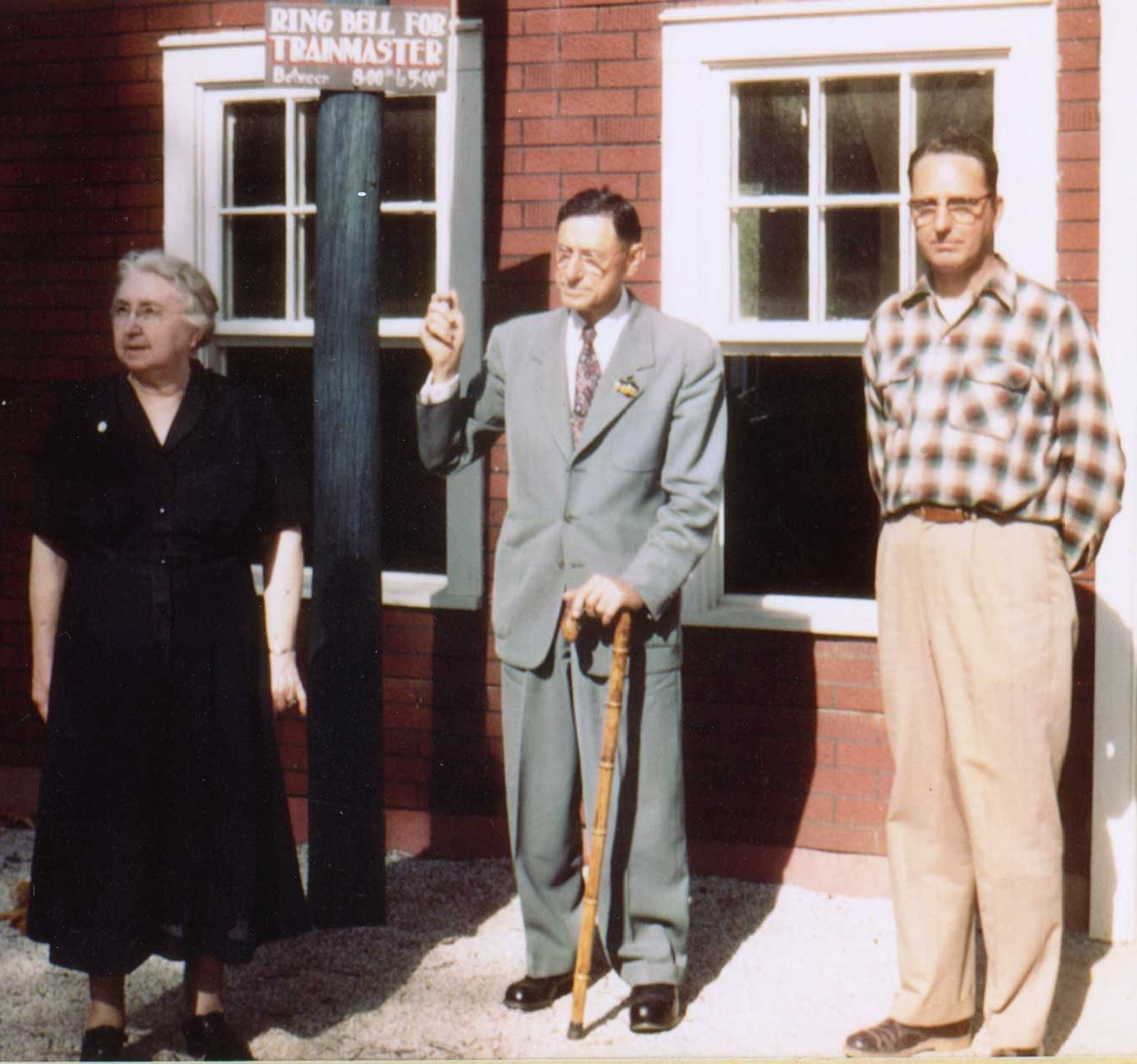 Bill Koch and parents in the 1950s
