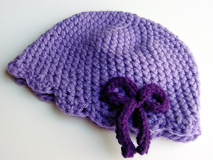Lavender Cloche for baby girl