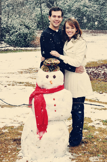 britt and j with frosty