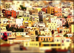 Syros, Greece aka Lego Land : ) (FlipMode79) Tags: city travel color architecture port buildings greek photography miniature europe afternoon waterfront capital sunny greece hillside cyclades legoland syros tiltshift hss flipmode cycladesislands ermoupolis siros