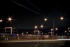 Broadmeadows Line (Sam Walton Photography) Tags: motion cars station canon lights metro transport trails australia trains line kfc network electrified broadmeadows canon400d