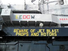 Control Tower warning (pr0digie) Tags: sign museum warning wwii navy worldwarii aircraftcarrier fleet flightdeck controltower ussmidway