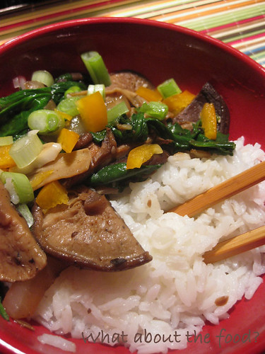 Shiitake Beef Stirfry in Blackbean Sauce