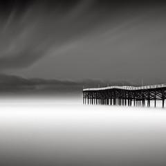 Crystal Pier II (Joel Tjintjelaar) Tags: california sandiego pacificbeach bwphotography blackandwhitephotography crystalpier daytimelongexposure emota niksoftware tjintjelaar sep2release silverefexpro2promovideo