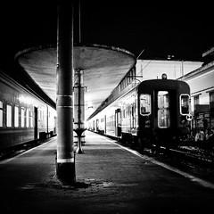 Old lights still shining (Arianna_M) Tags: old bw station night lights alone loneliness tracks trains bn firenze luci stazione antiquariato notte emptiness prospettiva binari treni smn onlate binario1a