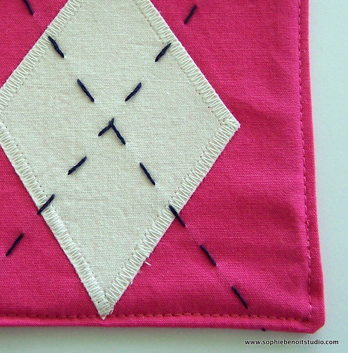 Organic Fabric Argyle Coaster