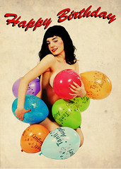 Happy Birthday (Mirko Masala) Tags: copyright girl up logo pin photographer  page happybirthday bettiepage pinup masala bettie mirko fotografo palloncini buoncompleanno anni50 dedicatedphoto michelacorrias mirkomasala