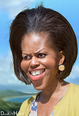 Michelle Obama - Caricature