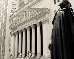 The New York City Stock Exchange (RBudhu) Tags: nyc newyorkcity ny newyork money stocks financialdistrict wallstreet bonds stockexchange nyse broadstreet tarp newyorkstockexchange dowjones downtownmanhattan djia commodities newyorkicon newyorkcitylandmark sp500 nyclandmarks dowjonesindustrialaverage houseofmorgan nyseeuronext