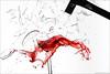Broken glass - Explore [FrontPage] (pascalbovet.com) Tags: red glass hammer blood experimental wine destruction splash shards destroy strobist lesson8